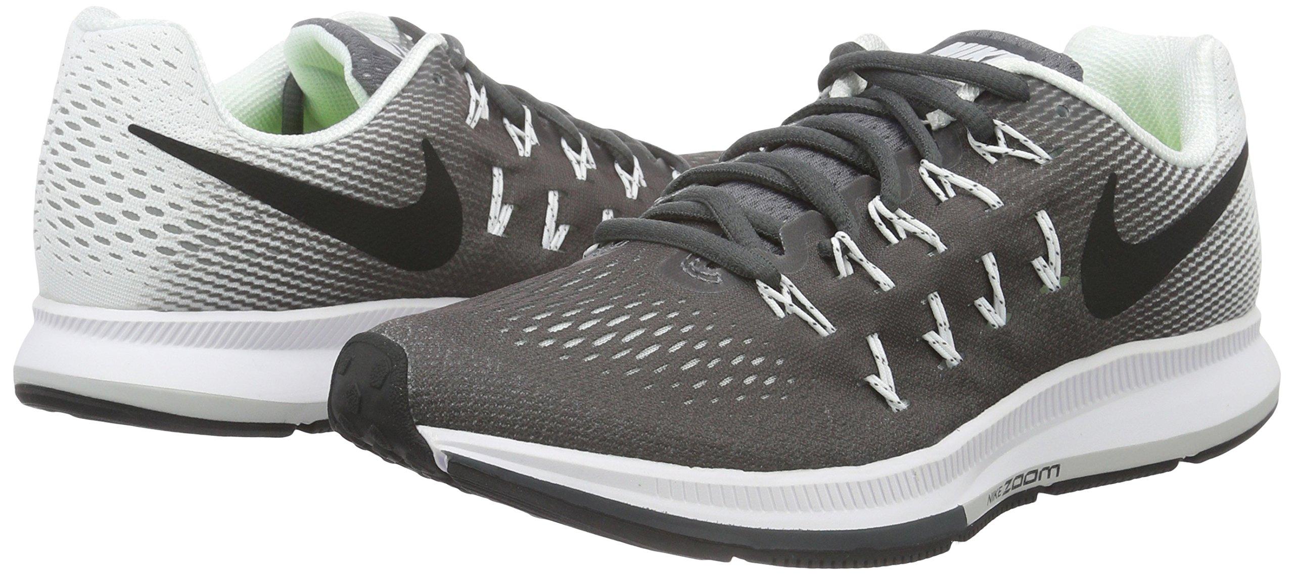 NIKE Women's Air Zoom Pegasus 33 Dark Grey/Black/White Running Shoe 9 Women US