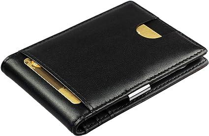 portafoglio uomo in vera pelle nero marrone blu con portamonete slim da piccolo