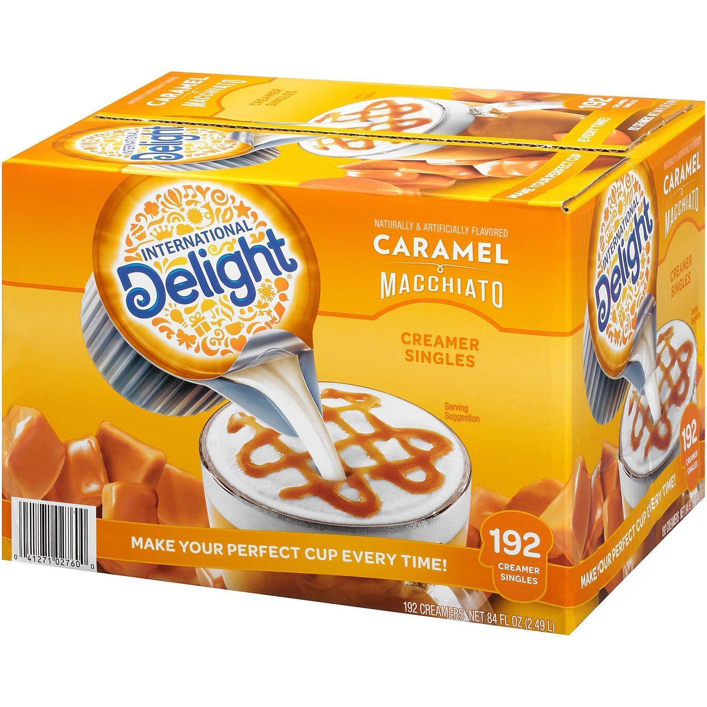 International Delight, Caramel Macchiato, Single-Serve Coffee Creamers, 192 Count(2 Pack)