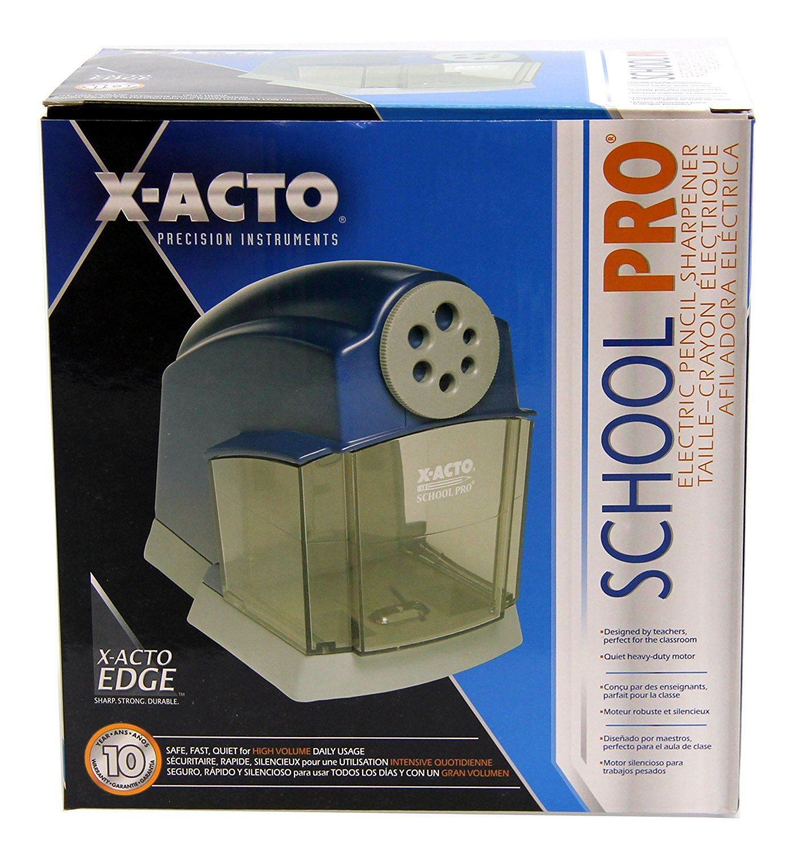 X-ACTO SchoolPro Classroom Electric Pencil Sharpener, Heavy Duty, Blue/Grey (2 Pack) by X-Acto (Image #5)