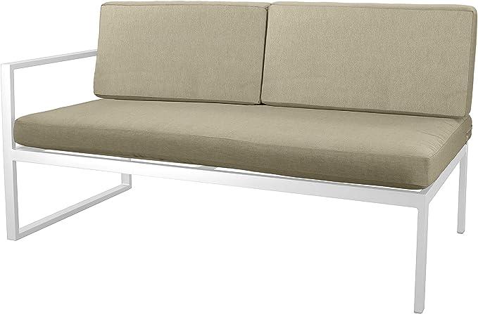 Hevea Milos sofá 2 plazas Blanco Exterior: Amazon.es: Jardín