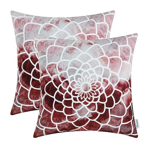 Burgundy Throw Pillows Amazon Com