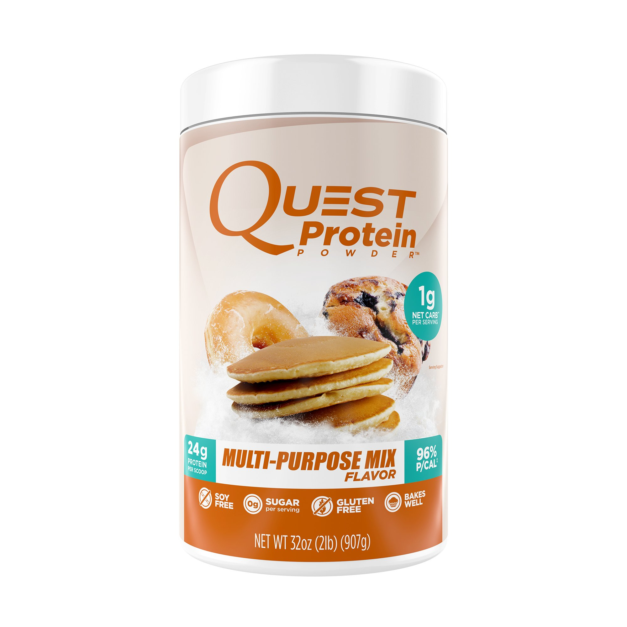 Quest Nutrition Protein Powder, Multi-Purpose Mix, 24g Protein, 1g Net Carbs, 96% P/Cals, 2lb Tub, High Protein, Low Carb, Gluten Free, Soy Free, Packaging May Vary
