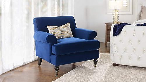 Jennifer Taylor Home Fabric Living Room Chair, Navy Blue