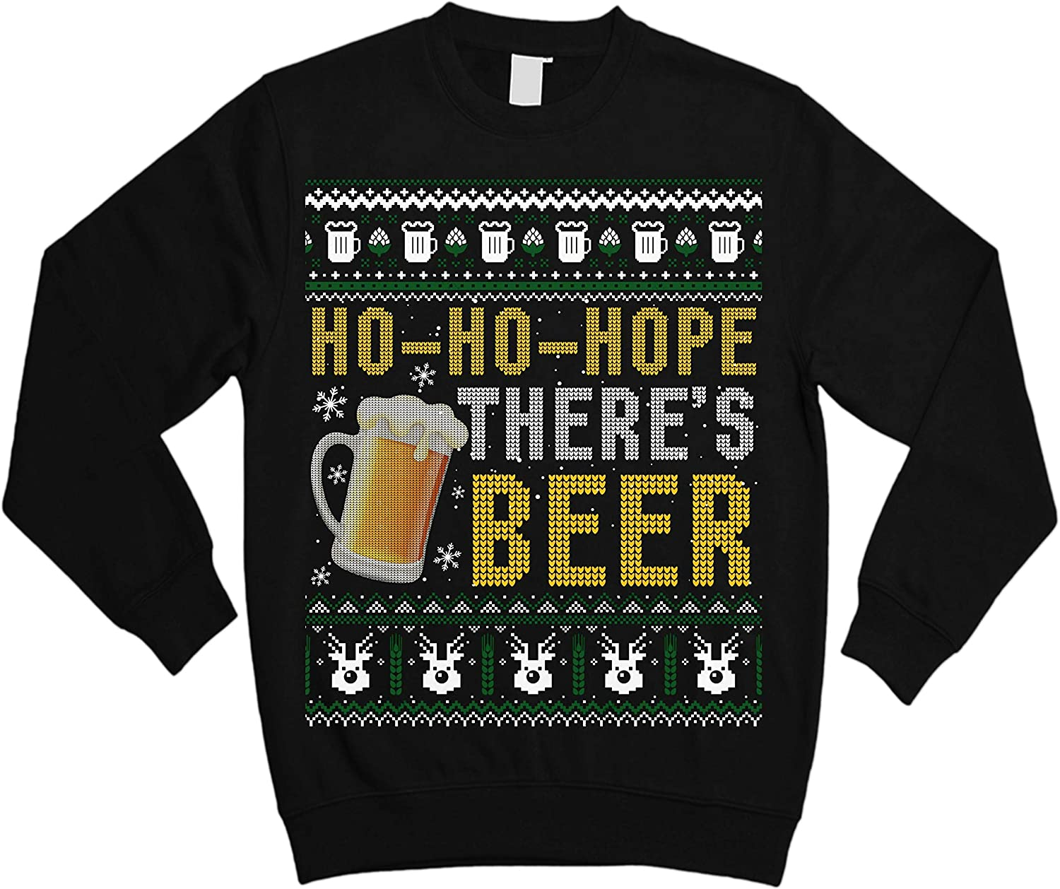 Ho-Ho-Hope Theres Beer Funny Drinking Ugly Christmas Sweater Sweatshirt