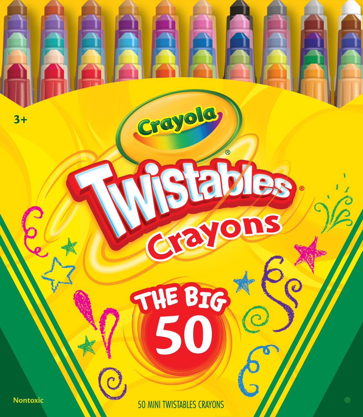 Crayola 50ct Mini Twistables Crayons