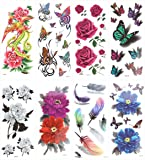 ULTNICE Temporary Tattoo Stickers - 8 Sheets