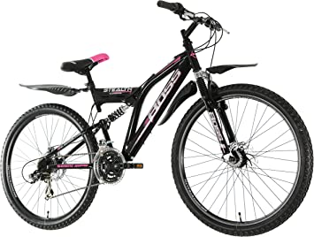 Boss B2614094 - Bicicleta para Mujer, 26 in, Color Rojo: Amazon.es ...
