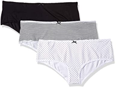 fb62ee0a4eb Amazon.com: Amazon Brand - Iris & Lilly Women's Cotton Hipster Underwear  with Bow, Pack of 3: Clothing