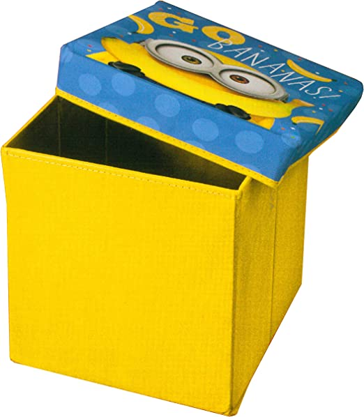 Brandsseller Kinder Sitzkiste Aufbewahrung Box Mit Deckel Motiv Minion 30x30x30 Cm Gelb Amazon De Kuche Haushalt