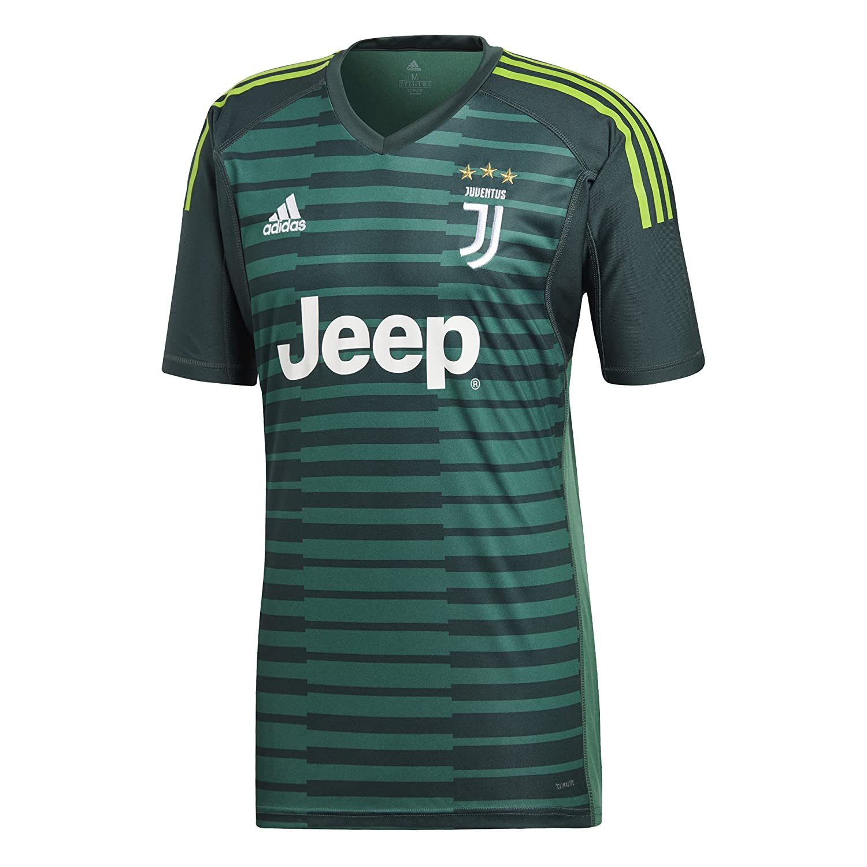 ff2f16a51 Amazon.com   adidas 2018-2019 Juventus Home Goalkeeper Football Soccer T-Shirt  Jersey   Sports   Outdoors