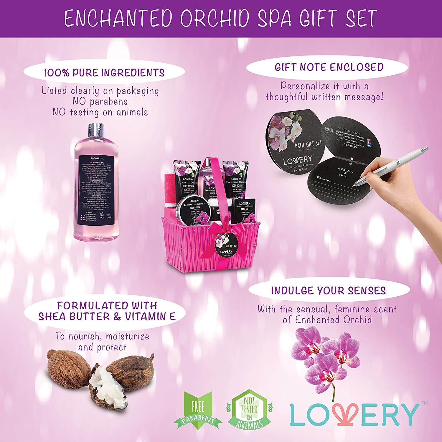 Amazon.com : Gift Baskets for Women, Lovery Spa Gift Set for Her, 1 ...