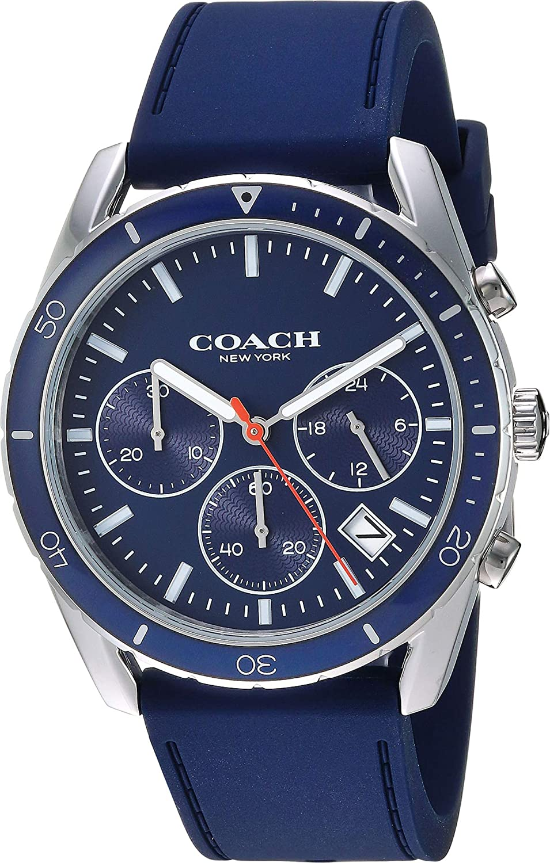 582cf9312 Amazon.com: COACH Men's Thompson Sport - 14602406 Navy One Size: Watches