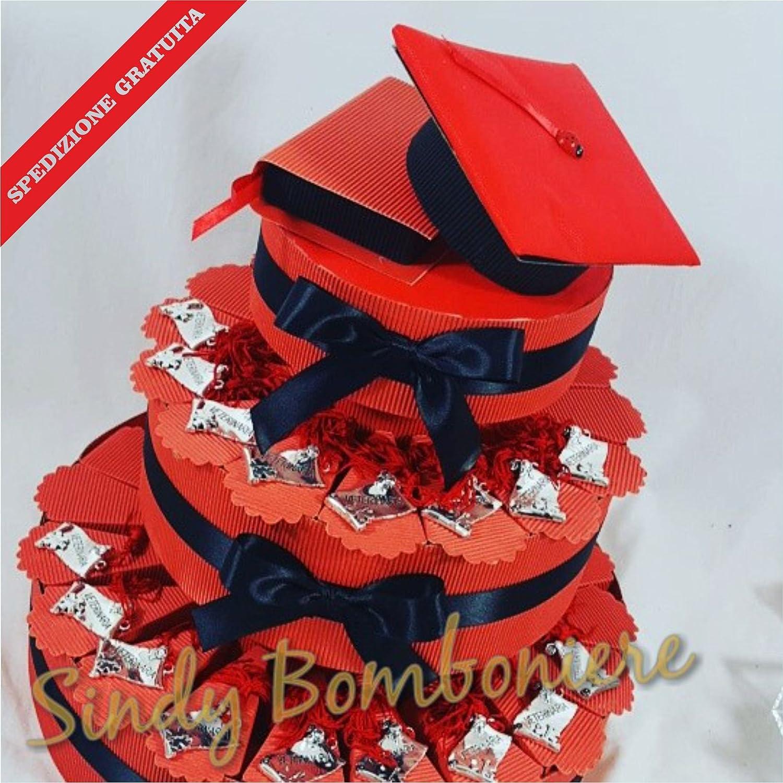 BOMBONIERA per laurea torta porta confetti pergamena VETERINARIA spedizione inclusa (Torta da 35 fette)