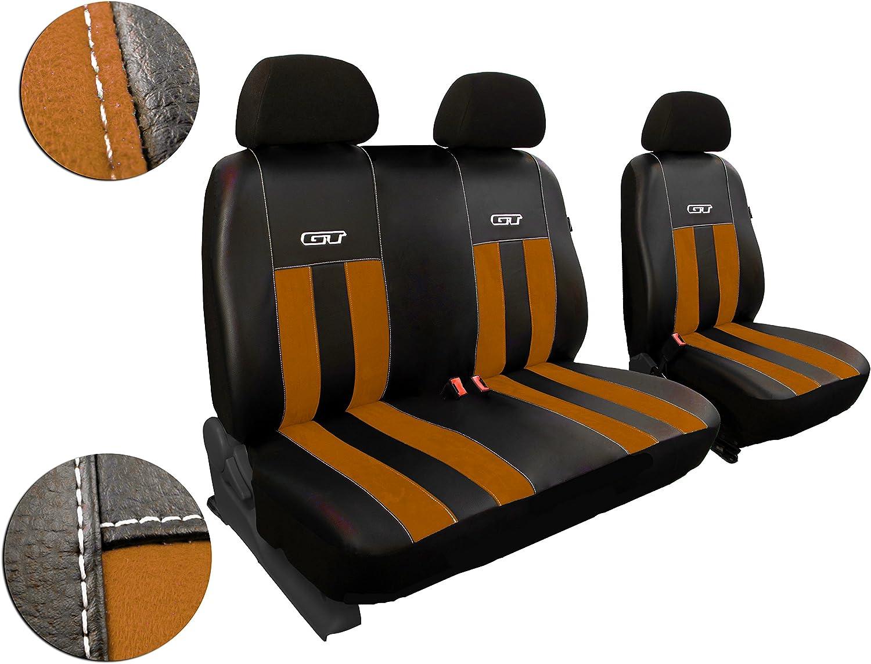 Fahrersitz Und Beifahrersitzbank Maßgefertigte Sitzbezüge Design Gt Braun Auto