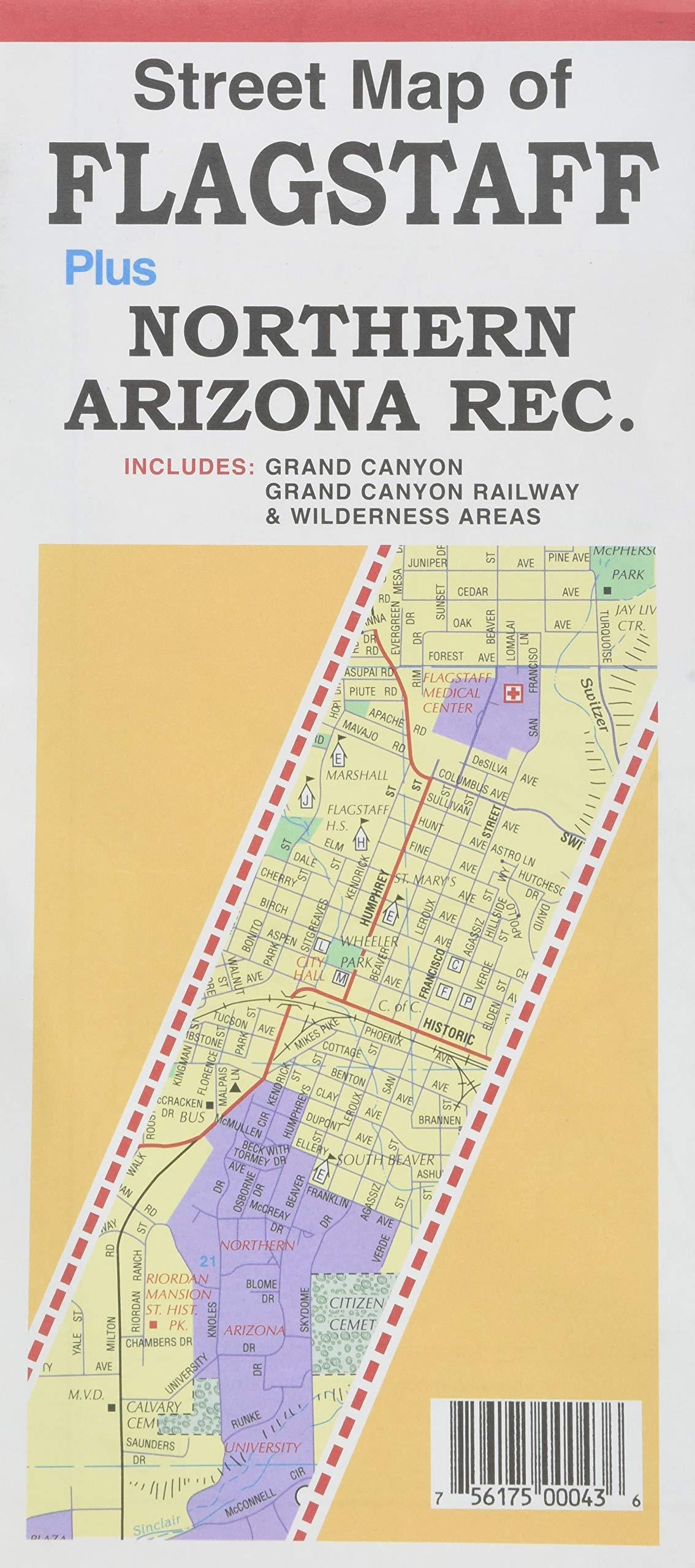 Map Of North Arizona.Street Map Of Flagstaff Plus Northern Arizona Rec North Star