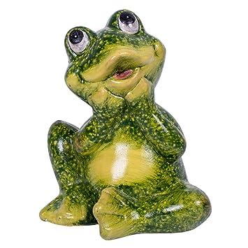 Amazoncom Small Sitting Frog Stone IndoorOutdoor Garden Statue