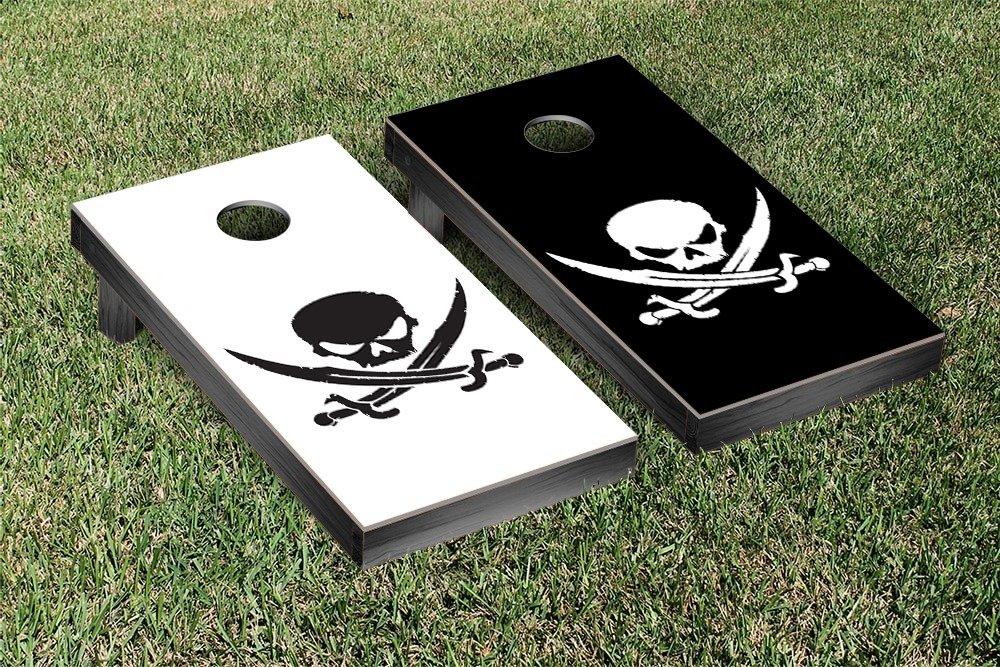 Pirate Cornhole Game Set Alternating Colors