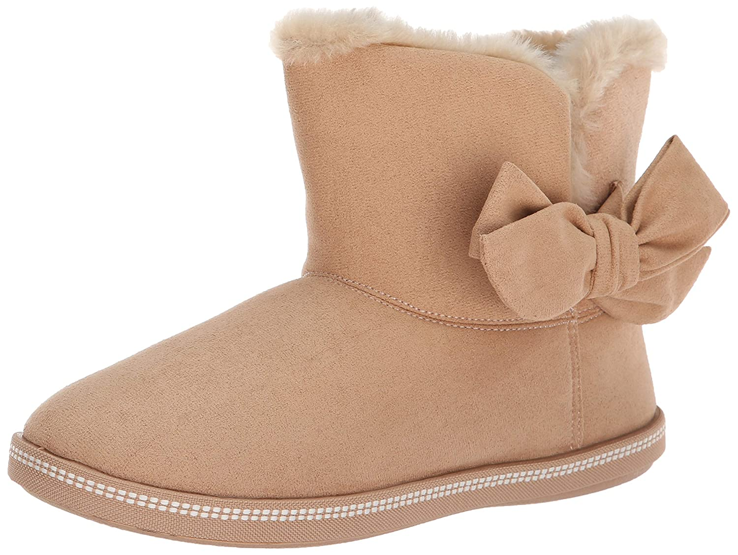 Skechers Women's Cozy Campfire Microfiber Slipper Boot with Bow