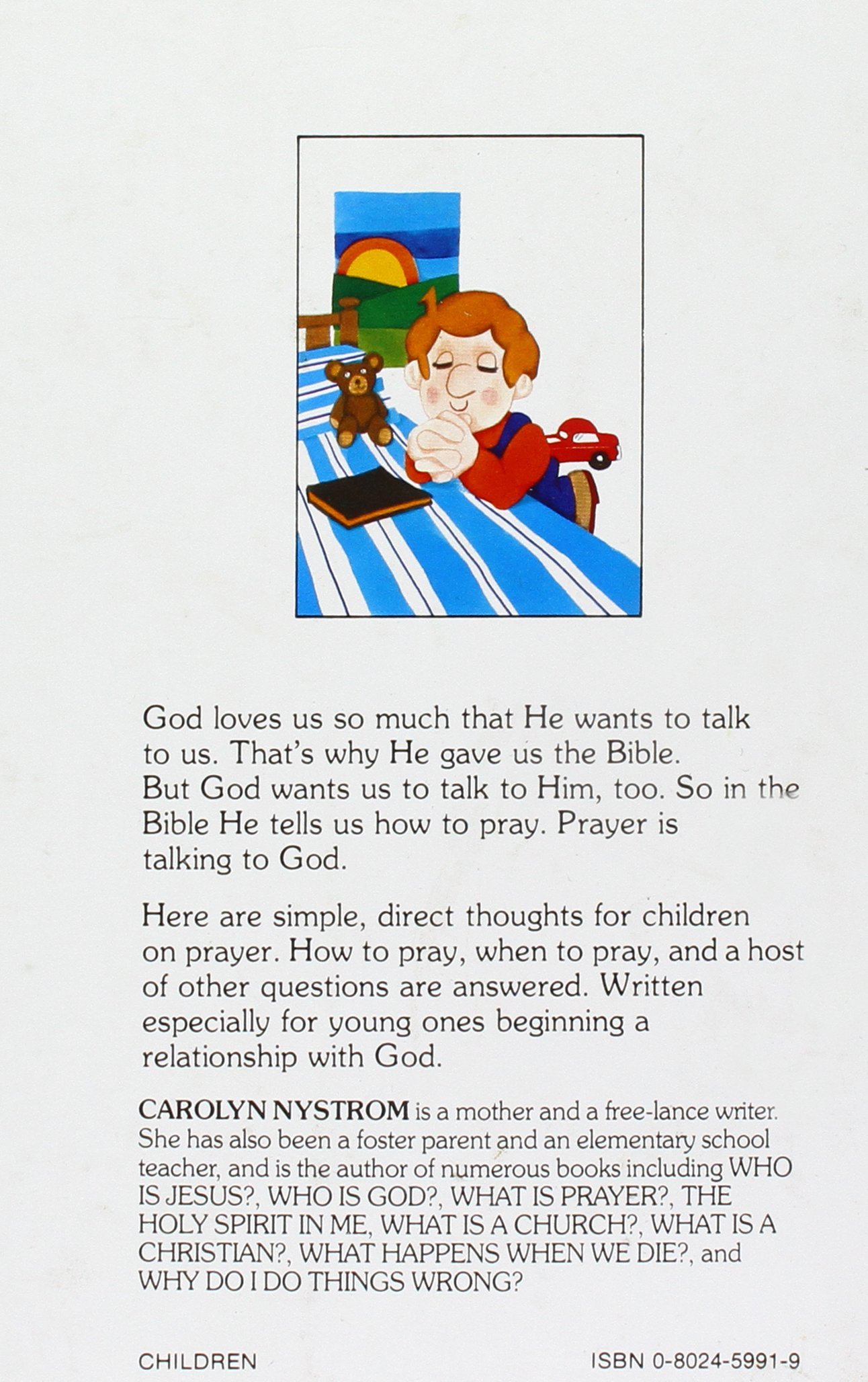 what is prayer children u0027s bible basic series carolyn nystrom