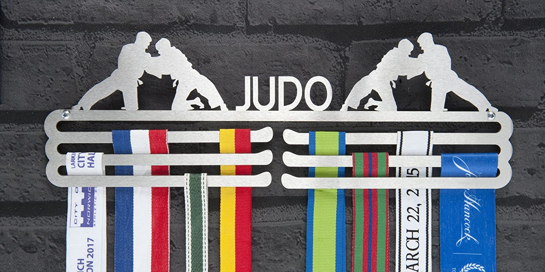 Amazon.com : Male Judo Triple Tier Stainless Steel Medal ...