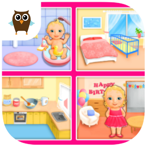 Sweet Baby Girl Dream House - Bath, Dress Up, Feed and Take Care of Little Baby Girl Alice, Bake a Cake and Play Birthday Party (Making A Flower Crown)