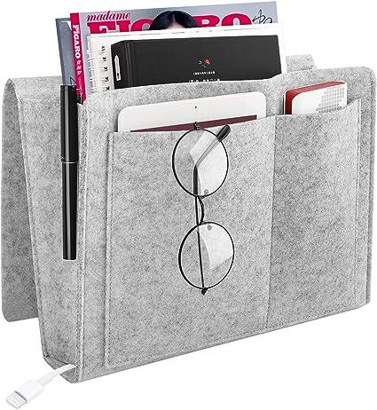 Bedside Felt Pocket Caddy Storage Organizer Home Bed Desk Sofa Holder Tidy Bags