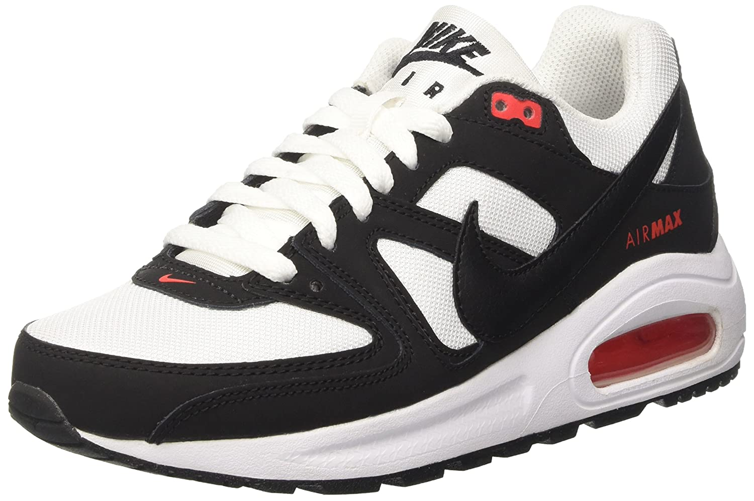 quality design 5d56f e11e4 Amazon.com   Nike Air Max Command Flex (GS) White Black Kids Youth Shoes  Size 6.5Y   Running