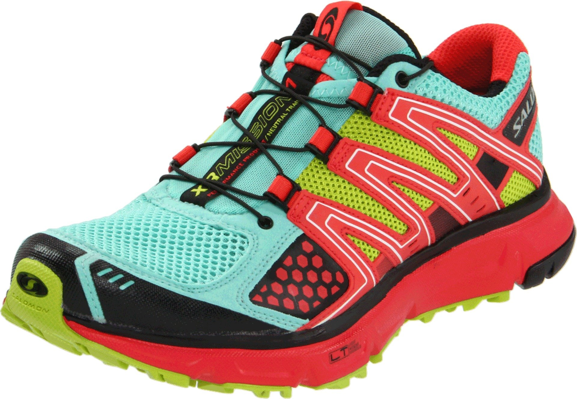 Salomon Women's XR Mission Running Shoe,Celedon/Papaya/Pop Green,7.5 M US by Salomon
