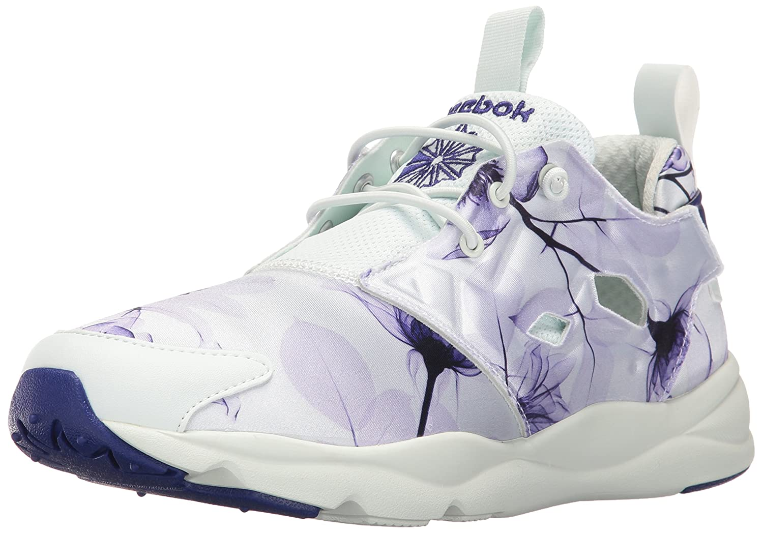 Reebok Women's Furylite Graphic Fashion Sneaker B01AX251SK 7.5 B(M) US|Floral/Opal/Pigment Purple