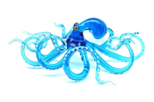 Ocean Octopus Sculpture Glass Octopus Octopus Blown Glass Octopus Kraken Glass Blown Glass Cephalopod Squid Octopus Figurine