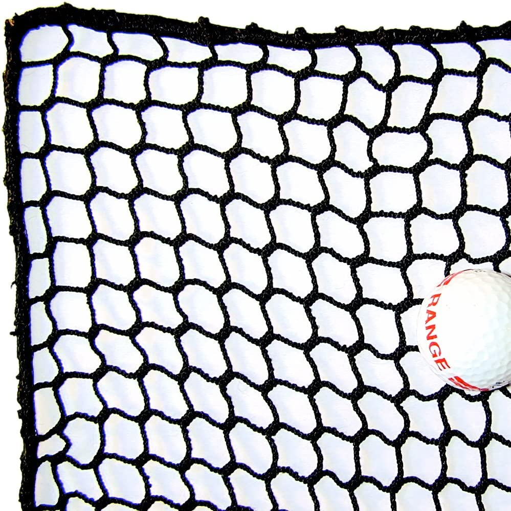10 High X 10 Wide Golf Barrier Containment Netting, 21 Polypro Netting, Serged Cord Edge Bordering, Golf, Baseball, Softball, Hockey, Lacrosse, Soccer, Basketball, Tennis, Multipurpose