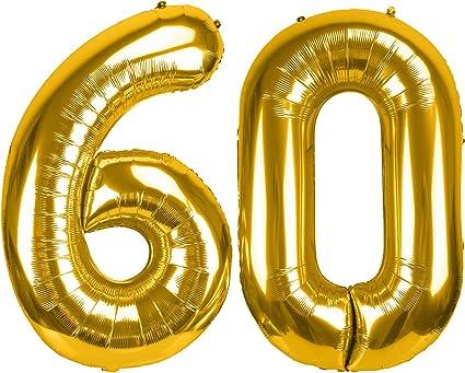 Number 6 JUMBO 40 inch Gold Number Mylar Balloon  Giant Gold Foil Balloon  Birthday Celebration Giant Balloons