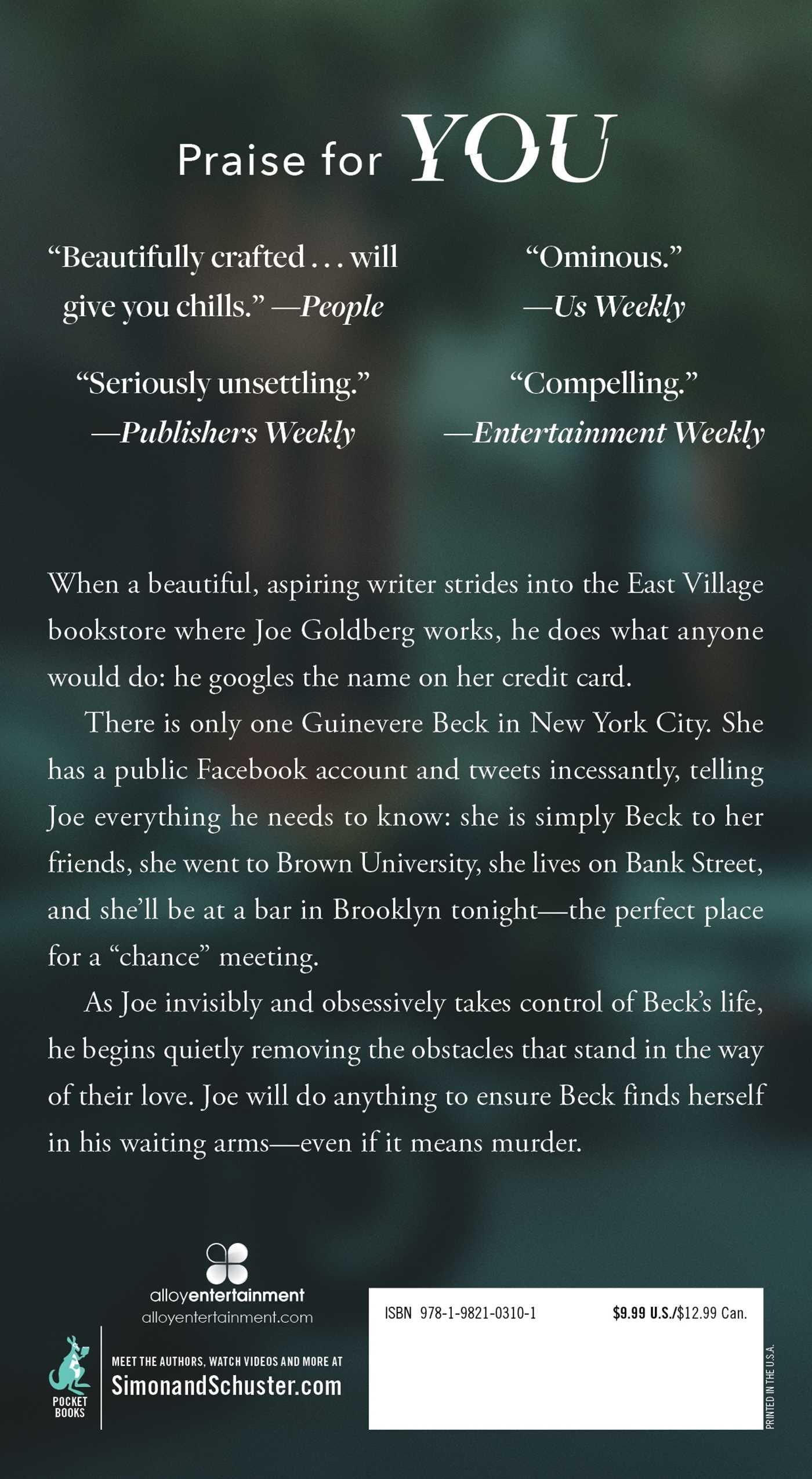 Amazon com: You: A Novel (9781982103101): Caroline Kepnes: Books