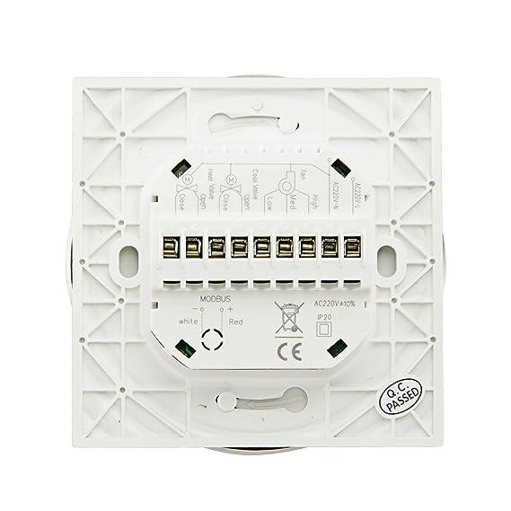... HVAC pantalla táctil programable semanal Modbus Rtu central aire acondicionado habitación termostato, 220.00 voltsV: Amazon.es: Bricolaje y herramientas