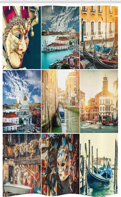 ABAKUHAUS Náutico Cortina para baño, Canales de Venecia, Tela con ...