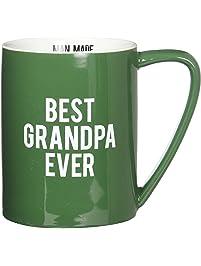 Pavilion Gift Company 14203 Best Grandpa Ever Ceramic Mug, 18 oz, Multicolor