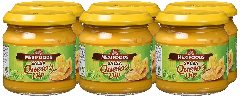 Mexifoods Salsa Queso - 6 Paquetes de 185 gr - Total: 1110 gr: Amazon.es: Alimentación y bebidas
