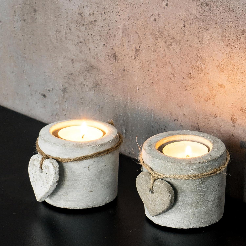 Teelichthalter Kerzenständer Windlicht Kerzenhalter Kerzenleuchter Deko Beton