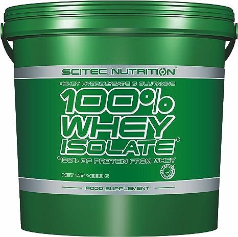 Scitec Nutrition - 100% whey protein isolate, 4000gr - proteina aislada sabor vainilla