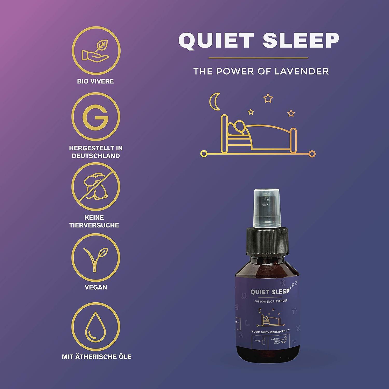 Apoyo al sueño con aceite de lavanda por sueño silencioso: spray ...
