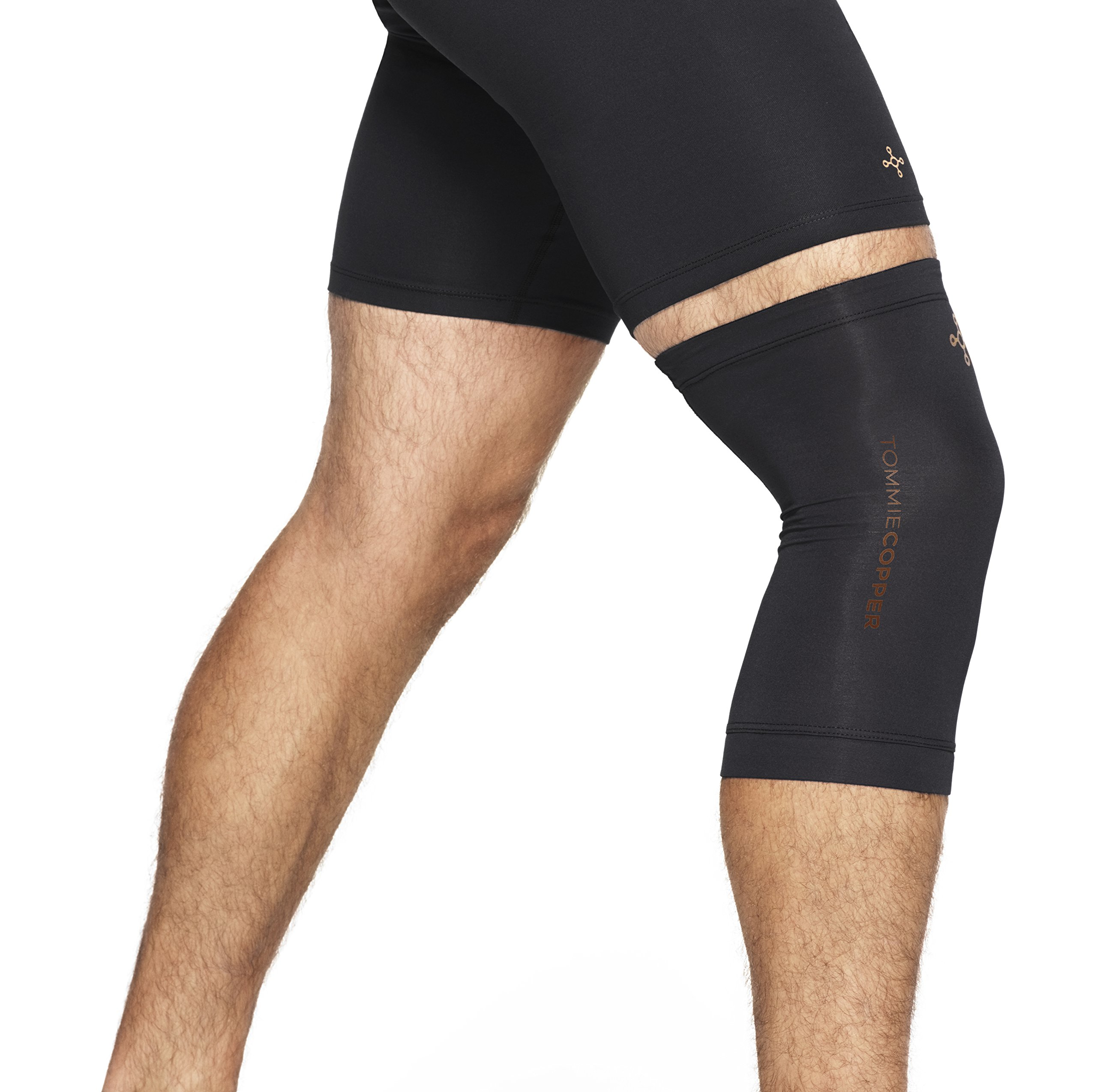 Tommie Copper - Unisex Compression Knee Sleeve - Black - Medium by Tommie Copper