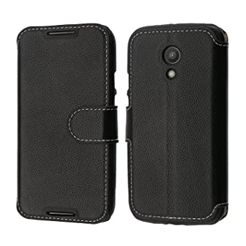 pretty nice 8824c b6583 Motorola Moto G 2nd Gen Case, Coodio Genuine Leather Case, Motorola Moto G  2nd Gen Wallet Case, Flip Case Cover with Stand Function, Card Slots, ...