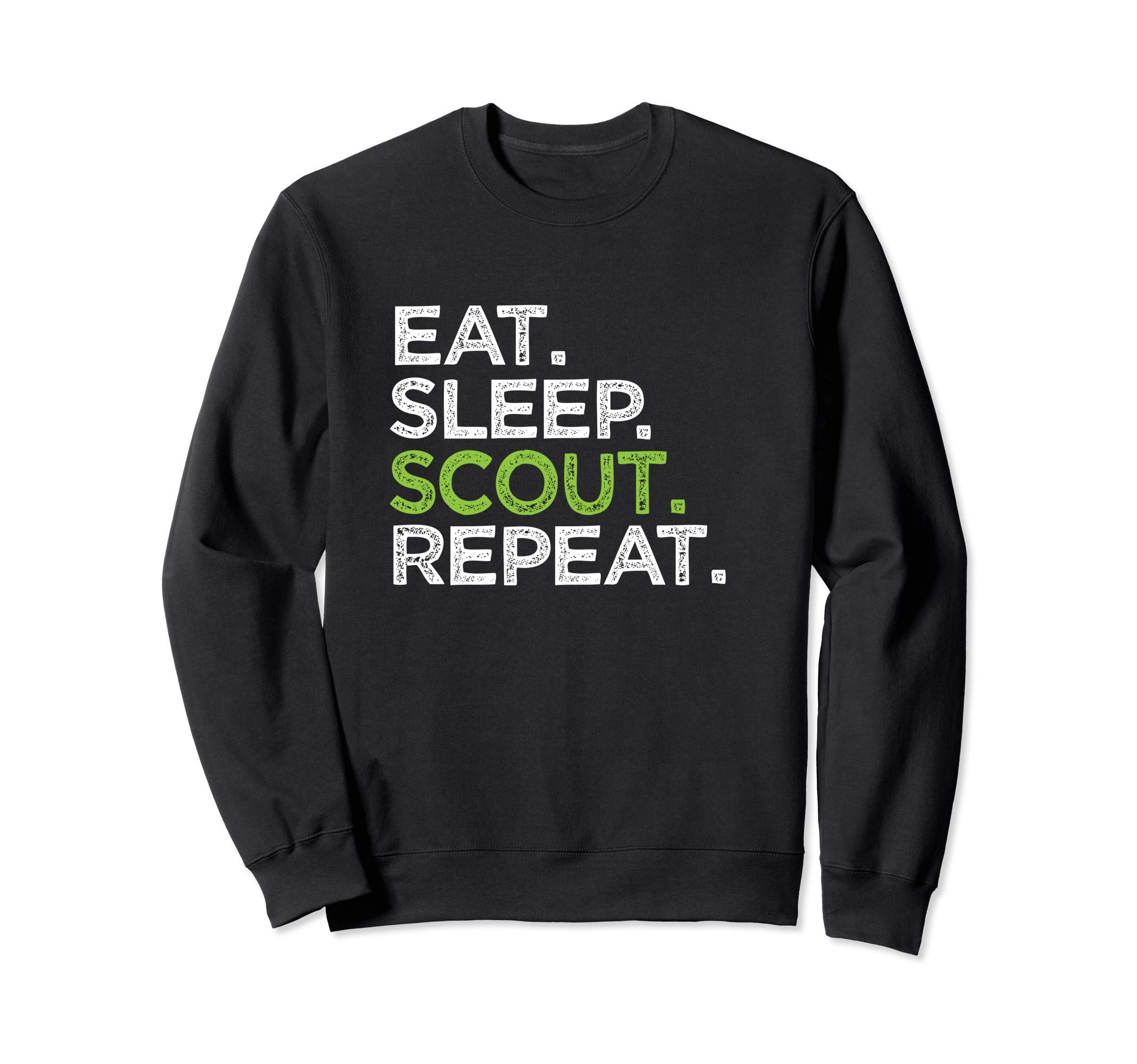 Cute Eat Sleep Scout Repeat Cub Love Scouting Leader Gift Sweatshirt by Retro Training Motivation Quotes Tees.