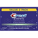 Crest 3D White Stain Eraser Whitening Toothpaste, Fresh Mint, 2 Count