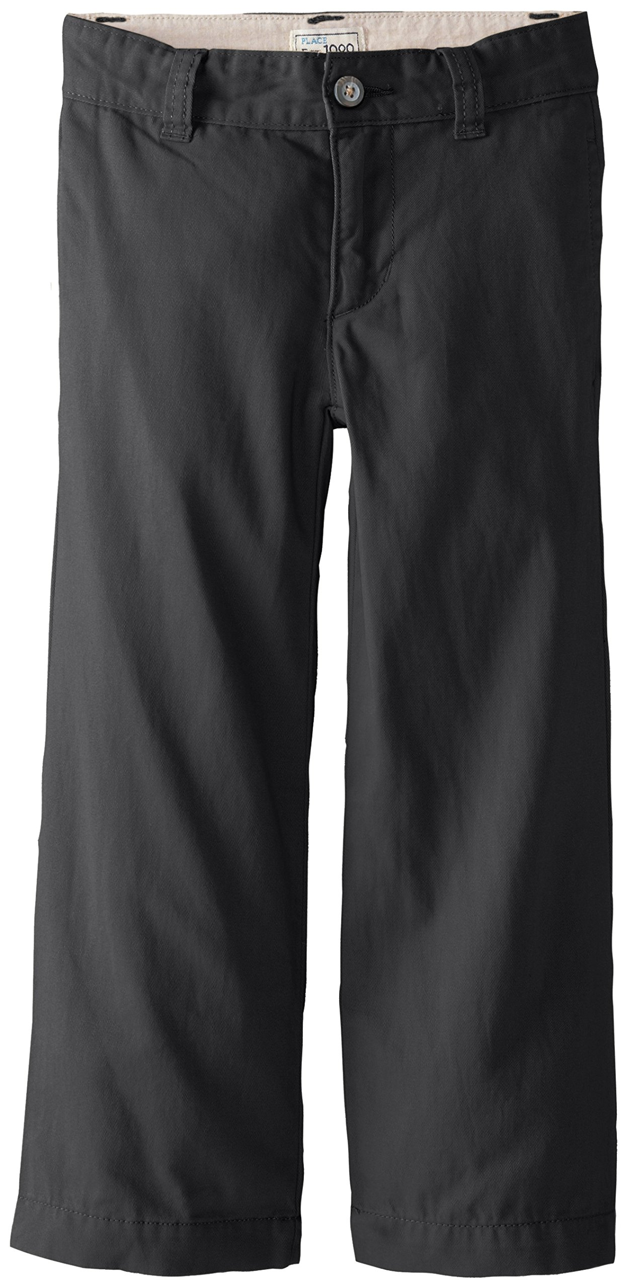 The Children's Place Little Boys' Chino Pant, Black, 6