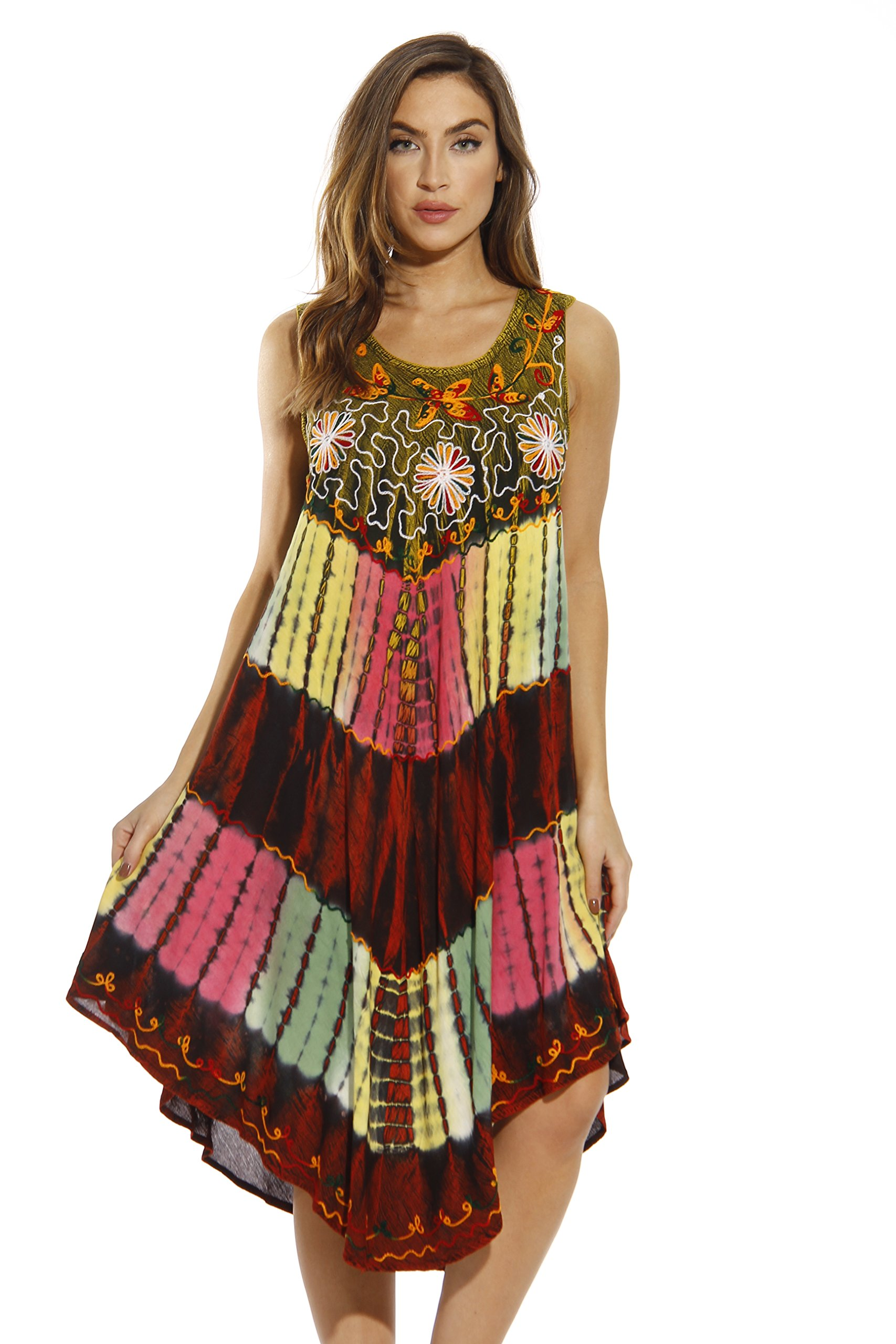 ab3ebcd4954 Galleon - Riviera Sun 21662-MUL-XL Summer Dresses Swimsuit Cover Up