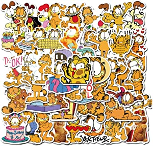50Pcs Garfield The Movie Stickers for Water Bottle Cup Laptop Guitar Car Motorcycle Bike Skateboard Luggage Box Vinyl Waterproof Graffiti Patches JHSL