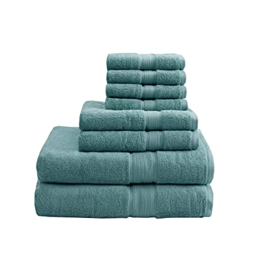 MISC 800 GSM Bath Towel Set Dusty Green Towels Linen Sheets Luxury Soft Plush Absorbent Bathroom Hotel Spa Luxurious Home Decor Pool Beach Designer Solid Color Shower Hotels, Egyptian Cotton 8 Piece