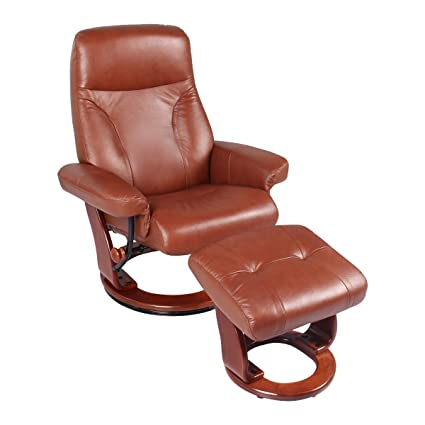 Sensational Coja Sofa4Life Bennett Leather Recliner Ottoman Cognac Creativecarmelina Interior Chair Design Creativecarmelinacom